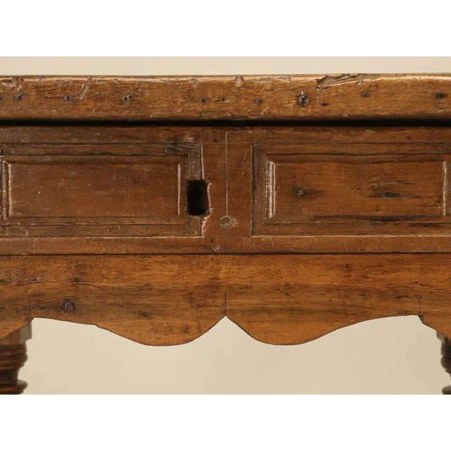 Mediterranean Antique Spanish Walnut End Table For Sale - Image 3 of 10
