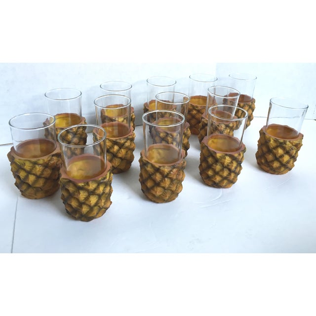 Vintage Ever's Pineapple Glasses - Set of 13 - Image 2 of 4
