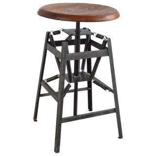 """American Industrial """"Set-Ezy"""" Stool For Sale"""