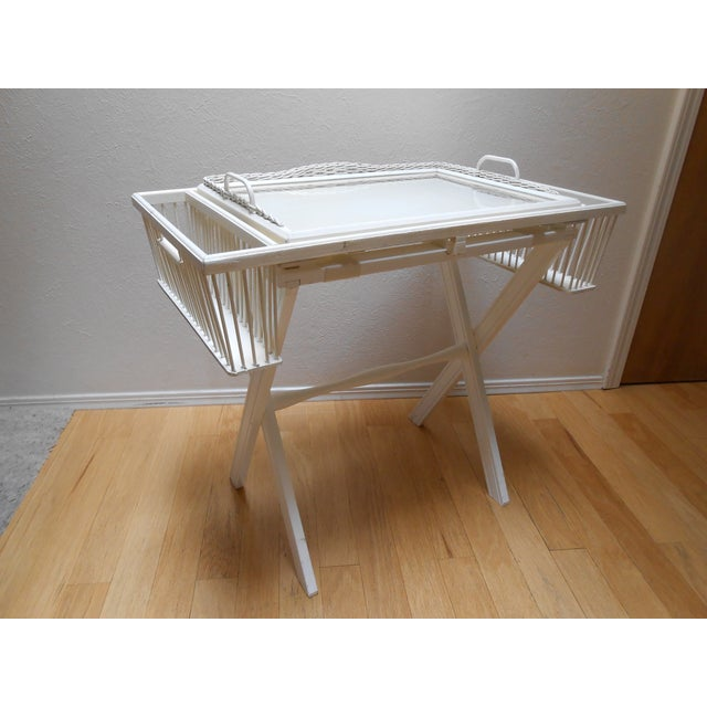 Lap Tray Side Table Antique White - Image 10 of 10