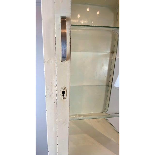1950s Mid Century Metal Medical Cabinet For Sale - Image 9 of 13