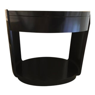 Barbara Barry for McGuire Oval Bedside Tables - a Pair