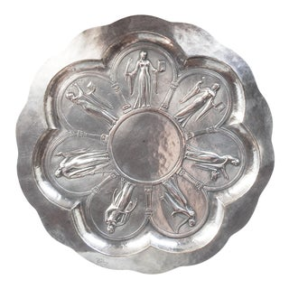 Art Deco Silverplate Tray 7 Muses For Sale