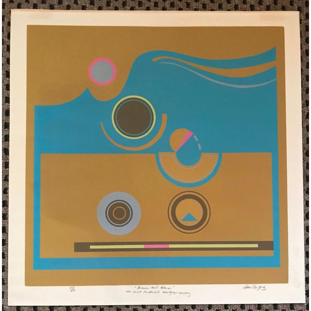 Mid-Century Modern Robert Hunter Serigraph - 1973 For Sale In Greenville, SC - Image 6 of 6