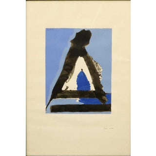 """1970s Vintage Robert Motherwell """"The Basque Suite"""" No. 7 Print Preview"""
