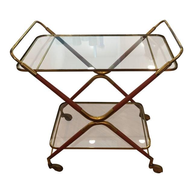 1950s Italian Cesare Lacca Bar Cart Server For Sale