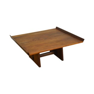 George Nakashima Studio Cherry and Walnut Milk House Coffee Table For Sale