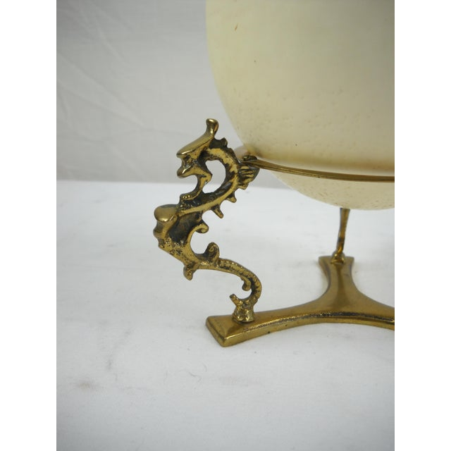Ostrich Egg on Brass Griffin Stand - Image 8 of 8