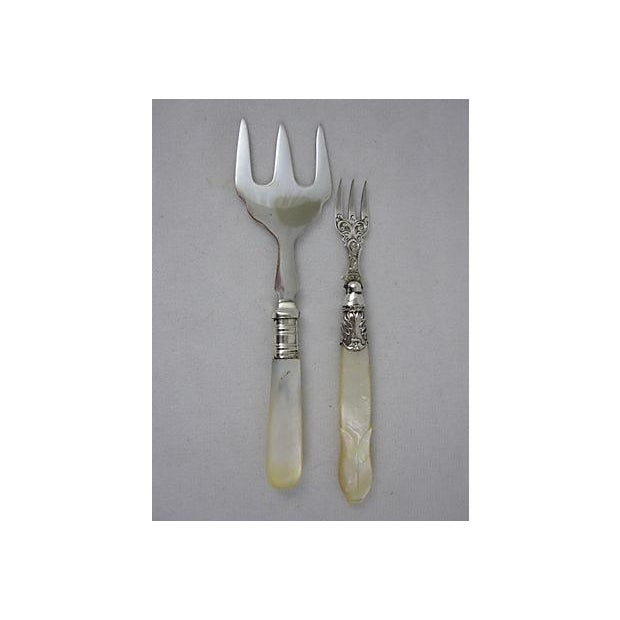 English & French Pearl Handled Servers - S/6 - Image 4 of 11