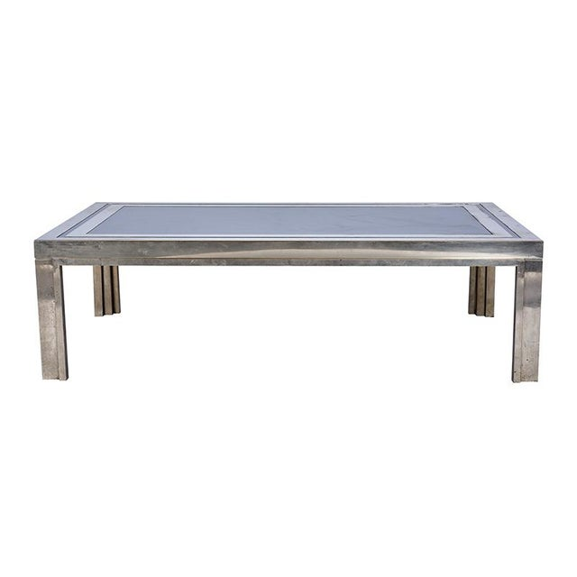 Metal 1950's French Steel Coffee Table For Sale - Image 7 of 7