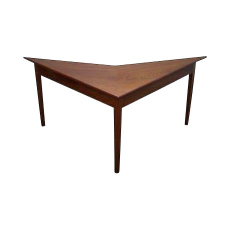 Mid Century Modern Studio Made Triangle Boomerang Low Table For Sale