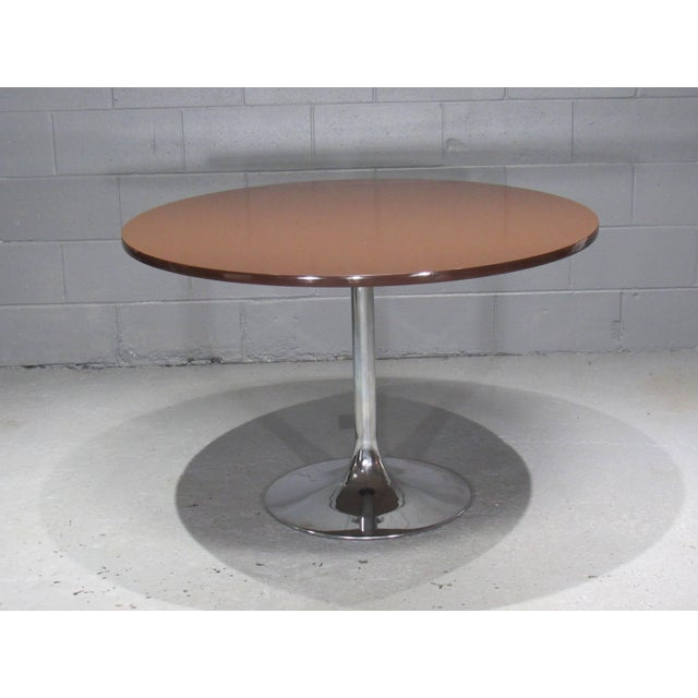 Chrome Tulip Table and Four Dining Chairs by Borje Johanson- Set of 4 For Sale - Image 4 of 9