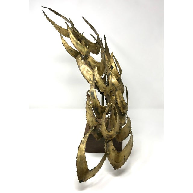 Brass 1960s Brutalist Bijan Brass Abstract Sculpture For Sale - Image 7 of 12