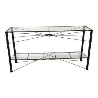Hand Forged Wrought Iron Console Table