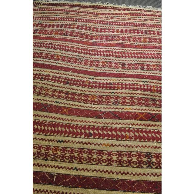 "Vintage Moroccan Wool Straw Rug - 6'6"" x 8'10"" - Image 4 of 4"