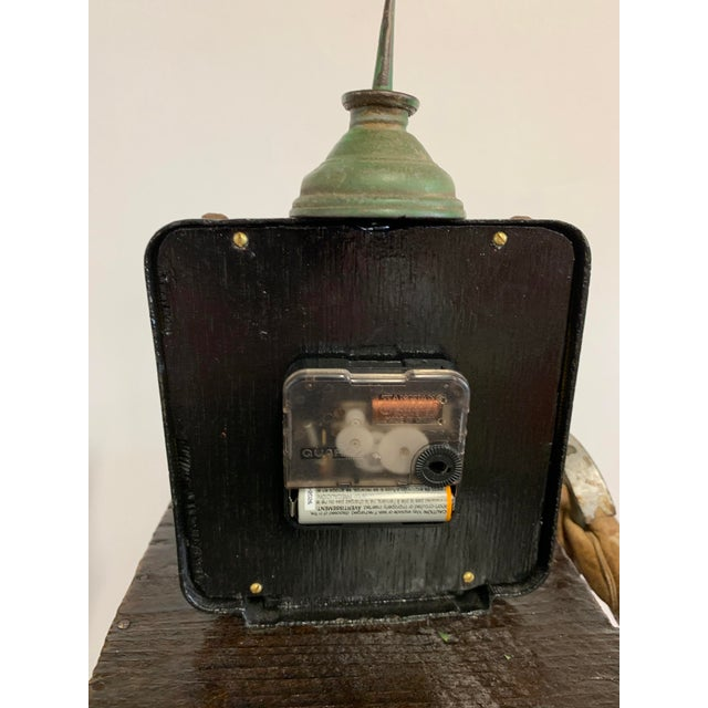 "Brown Linda Semple ""Time to Make Something"" Folk Art Sculpture For Sale - Image 8 of 13"