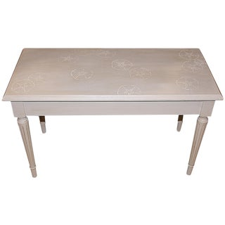 White Nautical Piano Bench For Sale