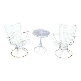 1960s Mid Century Homecrest Patio Set - Set of 3 For Sale