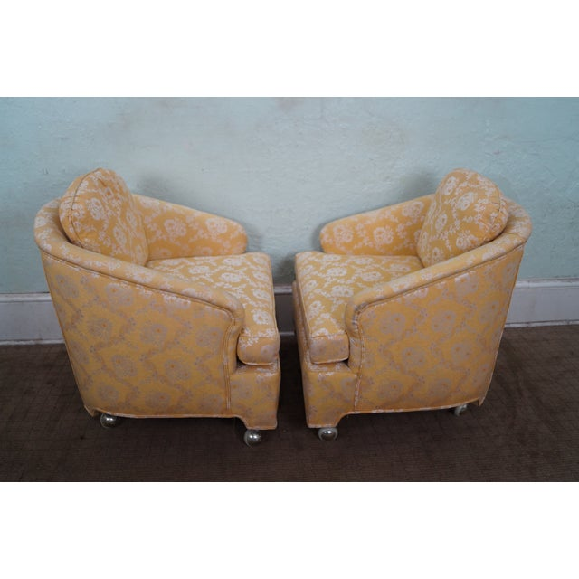 Mid-Century Barrel Back Lounge Chairs - Pair - Image 3 of 10