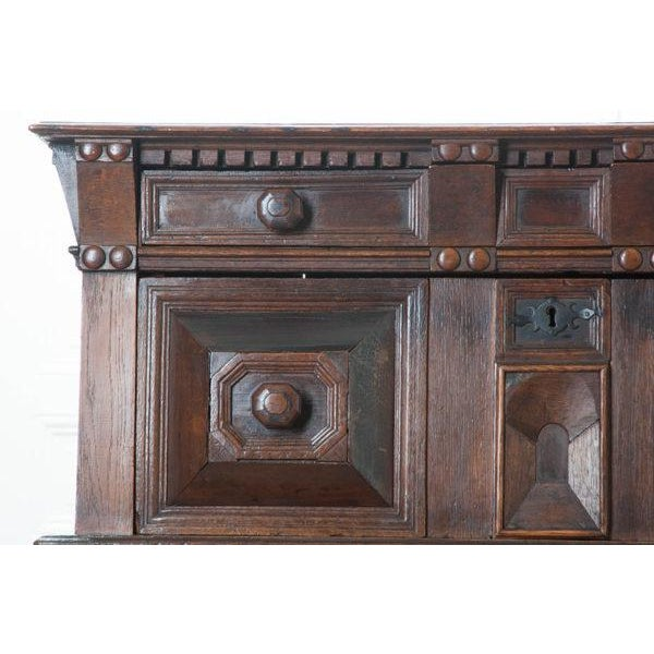 English 17th Century Charles II Oak Chest of Drawers For Sale - Image 4 of 13