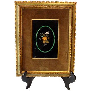 Italian Pietre Dure Framed Mosaic For Sale