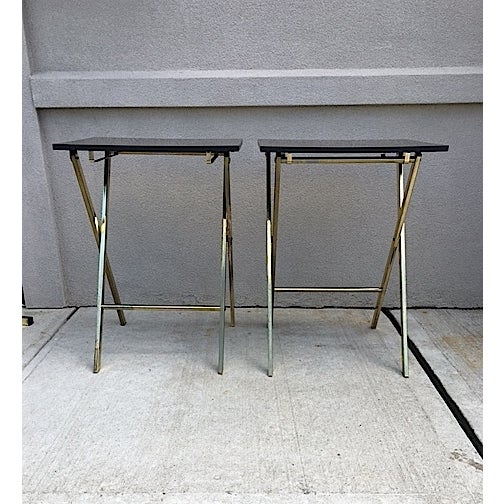 Hollywood Regency Style Tray Tables - Pair - Image 4 of 6
