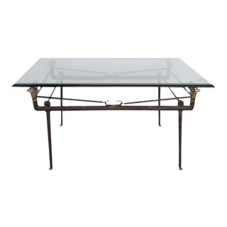 Italian Bronze Cocktail Table For Sale