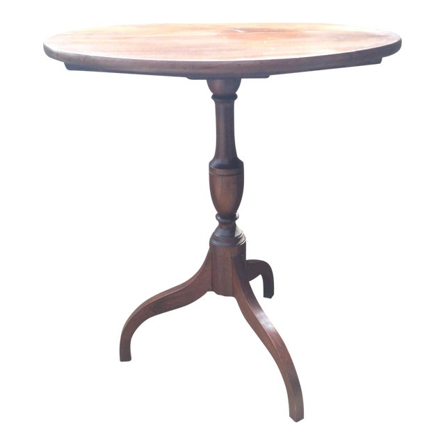 American Mahogany Tilt Top Table - Image 1 of 10