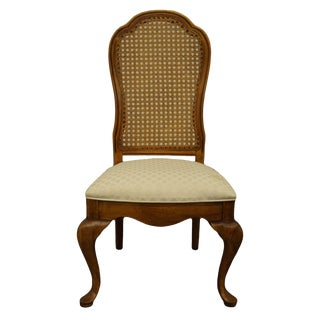 Late 20th Century Thomasville Furniture Fisher Park Collection Cane Back Dining Side Chair For Sale