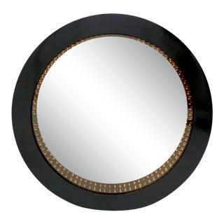 1970s Vintage Black Frame Mirror For Sale