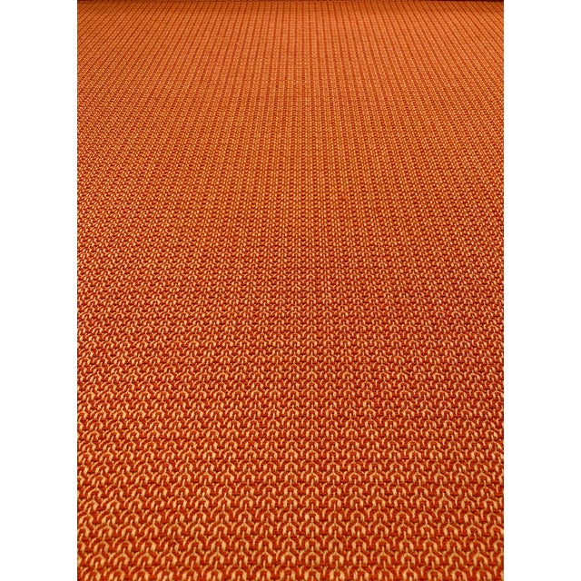 Modern Orange / Taupe Melange Multipurpose Fabric - 4.25 Yards For Sale