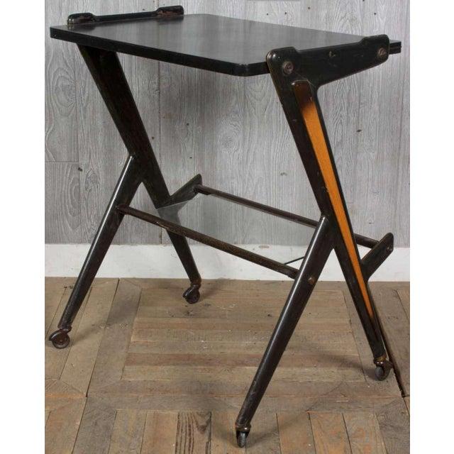 Italian Vintage Retro Italian Mid Century Modern Designer Desk Table by Ico Parisi For Sale - Image 3 of 4