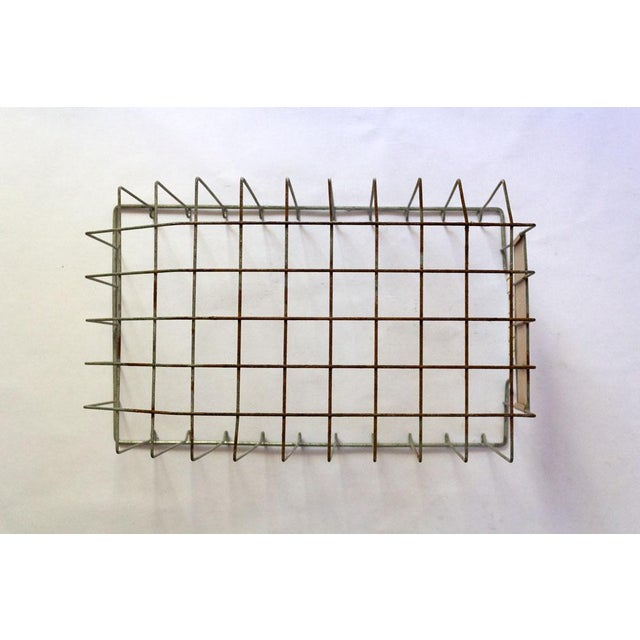 Copper Vintage Mid Century Wire Basket For Sale - Image 8 of 13