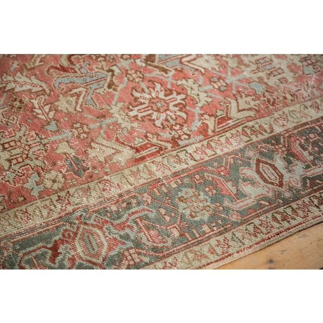 """Pink Vintage Distressed Heriz Carpet - 6'8"""" X 9'6"""" For Sale - Image 8 of 13"""