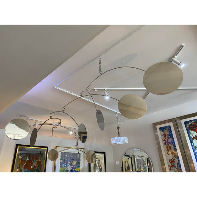 Alexander Millen Vintage Abstract Mobile Nickel Plated For Sale - Image 4 of 13