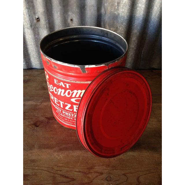Vintage Eat Economy Pretzels Container - Image 3 of 8