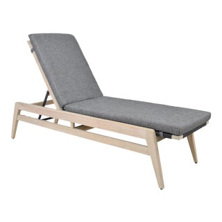 Bellevue Outdoor Teak Chaise For Sale
