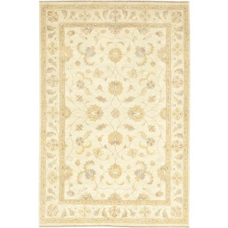 "Leyla, Oushak Area Rug - 6' 1"" X 9' 2"" For Sale"