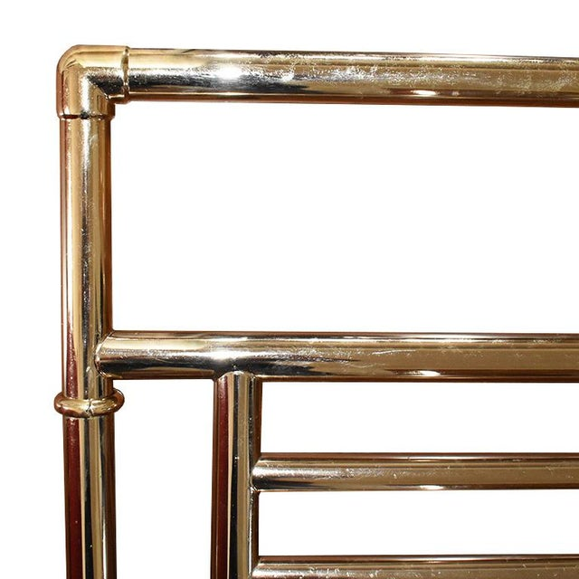 Large gold vintage Myson towel warmer. A necessity for every bathroom, especially in winter and when hosting guests. Step...