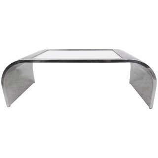 Modern Brueton Style Waterfall Coffee Table For Sale