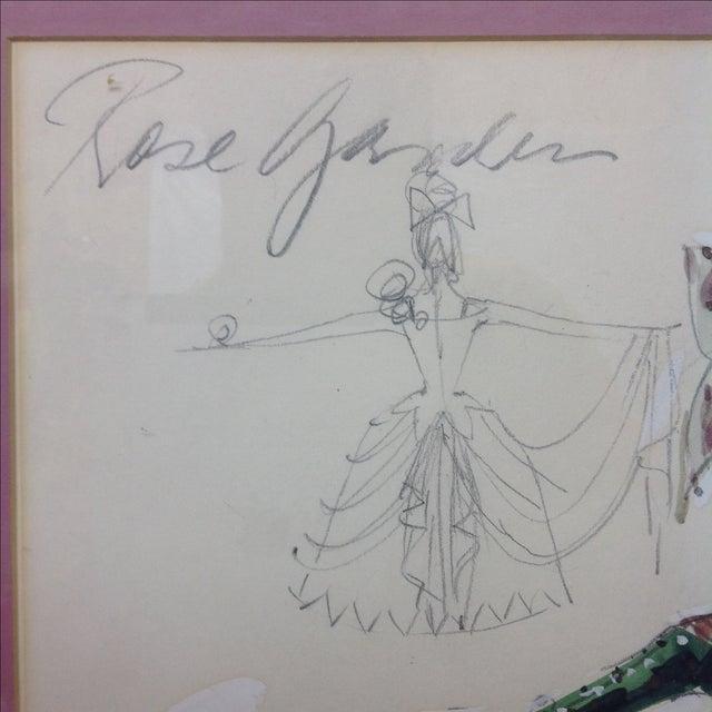 "Art Deco Original Winn Morton Gown Design ""Rose Garden"" For Sale - Image 3 of 7"
