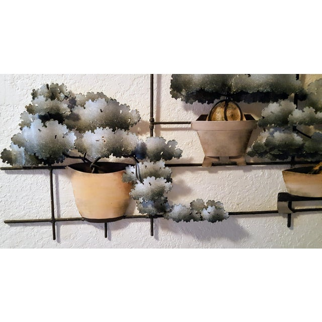 Contemporary Bonsai Garden Tole Wall Art For Sale - Image 4 of 7