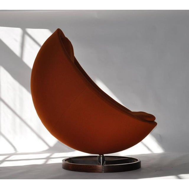 Large-Scale Scandinavian Lounge Chair - Image 4 of 8
