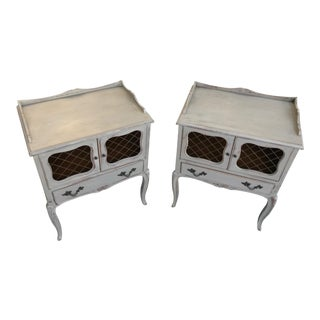 1970s Shabby Chic Style Nightstands - a Pair For Sale