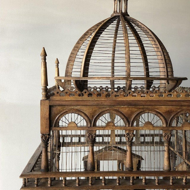 Grand architectural birdcage on stand For Sale - Image 4 of 8
