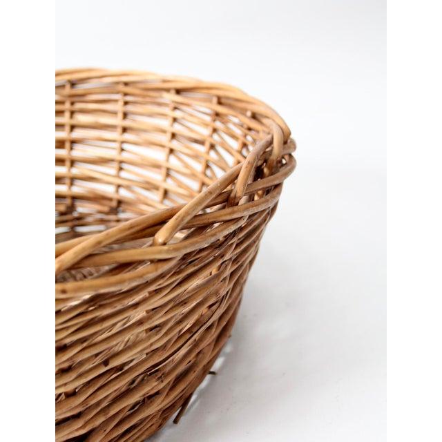 Vintage Oval Woven Reed Basket - Image 5 of 6