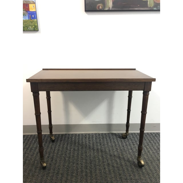 1960s Chinoiserie Faux Bamboo Table With Tilt Top For Sale - Image 10 of 10