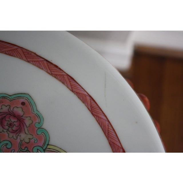 Chinese Famille Rose Porcelain Peacock Garden Seat For Sale - Image 11 of 13