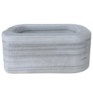 Oblong Marble Vessel Sink/Fountain Base For Sale