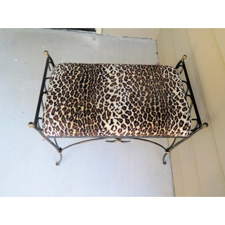 Vintage Wrought Iron Bench Preview